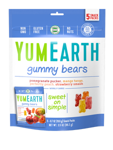YumEarth Organic Gummy Bears 3.5oz. - Pack of 12 Count