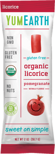 YumEarth Organic Licorice Pomegranate 2oz. - Pack of 48 Count