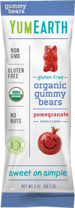 YumEarth Organic Pomegranate Gummy Bears 2oz. - Pack of 48 Count