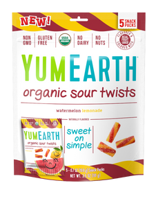 YumEarth Organic Fruit Twists 3.5oz. - Pack of 12 Count