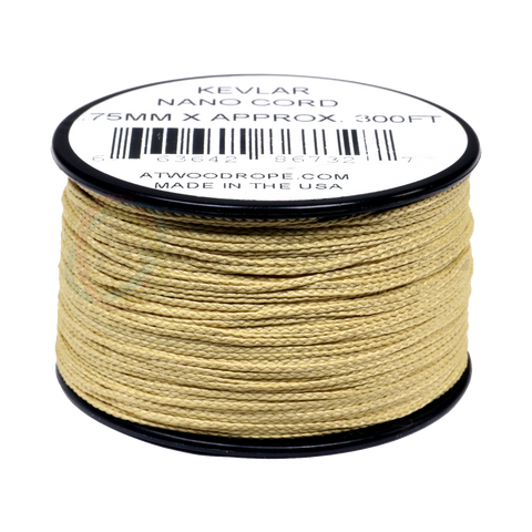 .75mm Nano Cord Kevlar - Yellow - 300ft
