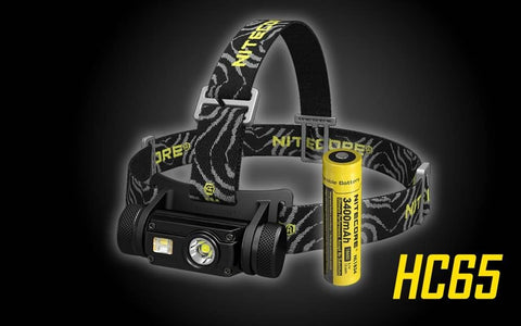 Nitecore HC65 1000 Lumen Headlamp, Rechargeable Multi-mode with White and Red light