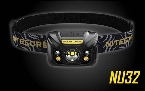 Nitecore NU32 550 Lumen LED Headlamp, Rechargeable Multi-mode/ White and Red LED