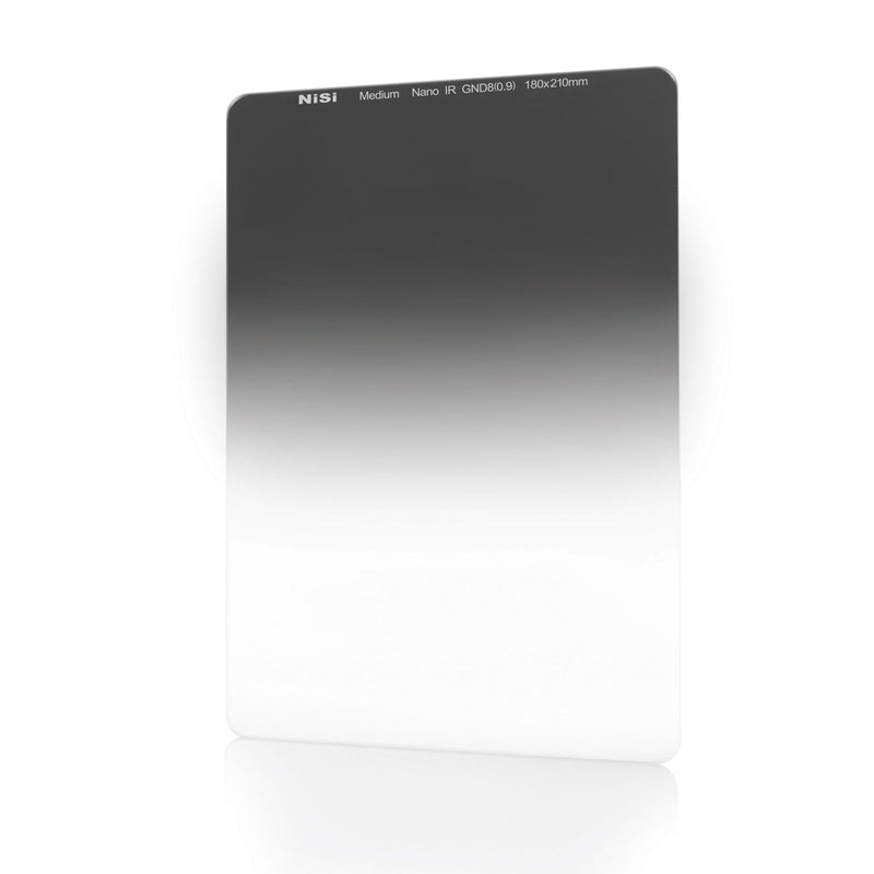 NiSi 180x210mm Nano IR Medium Graduated Neutral Density Filter – GND8 (0.9) – 3 Stop