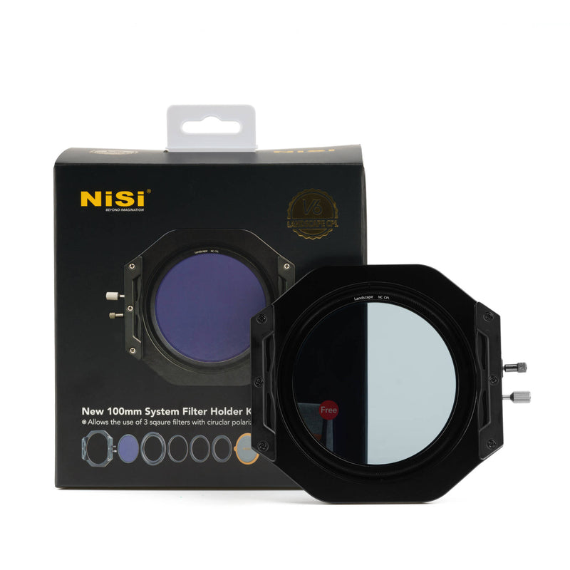 NiSi V6 100mm Filter Holder with Enhanced Landscape Circular Polarizer Filter
