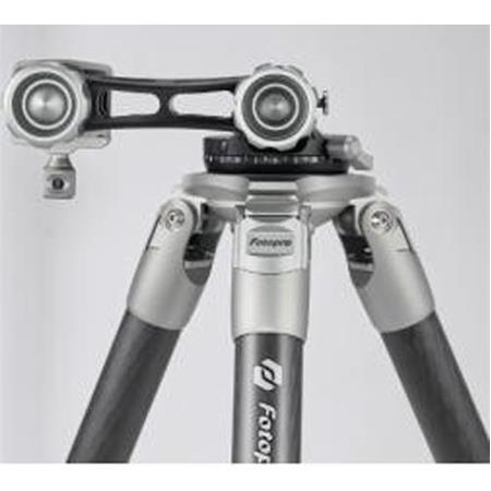 Fotopro E6L Eagle Series 5-Section Carbon Fiber Tripod with E-6H Gimbal Head, Holds 22 lbs, Extends to 63""