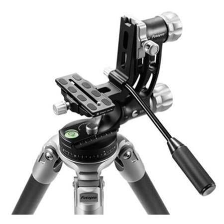 Fotopro E-6 Eagle Series 5-Section Carbon Fiber Tripod with Gimbal Head, Holds 33 Lbs, Extends to 55""