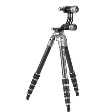 Fotopro EGL-65 Eagle Series 5-Section Carbon Fiber Tripod with Gimbal Head, Holds 33 Lbs, Extends to 55""