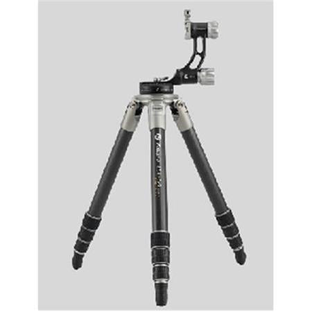 Fotopro EGL-94 Eagle Series 4-Section Carbon Fiber Tripod with Gimbal Head, Holds 66 lbs, Extends to 63""