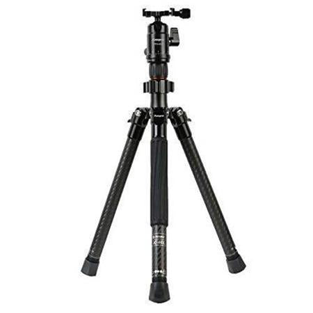 Fotopro X-Aircross 1 Mini Carbon Fiber Tripod Kit, Includes FPH-42Q Dual Action Ball Head and 1/4-20 QR Plate