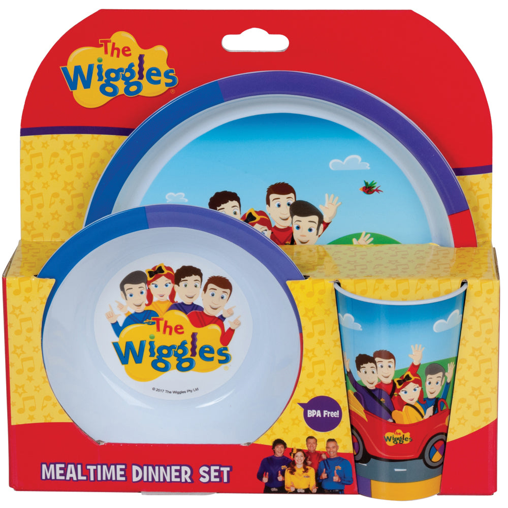 The Wiggles Mealtime Dinner Set with Cup, Bowl, and Plate