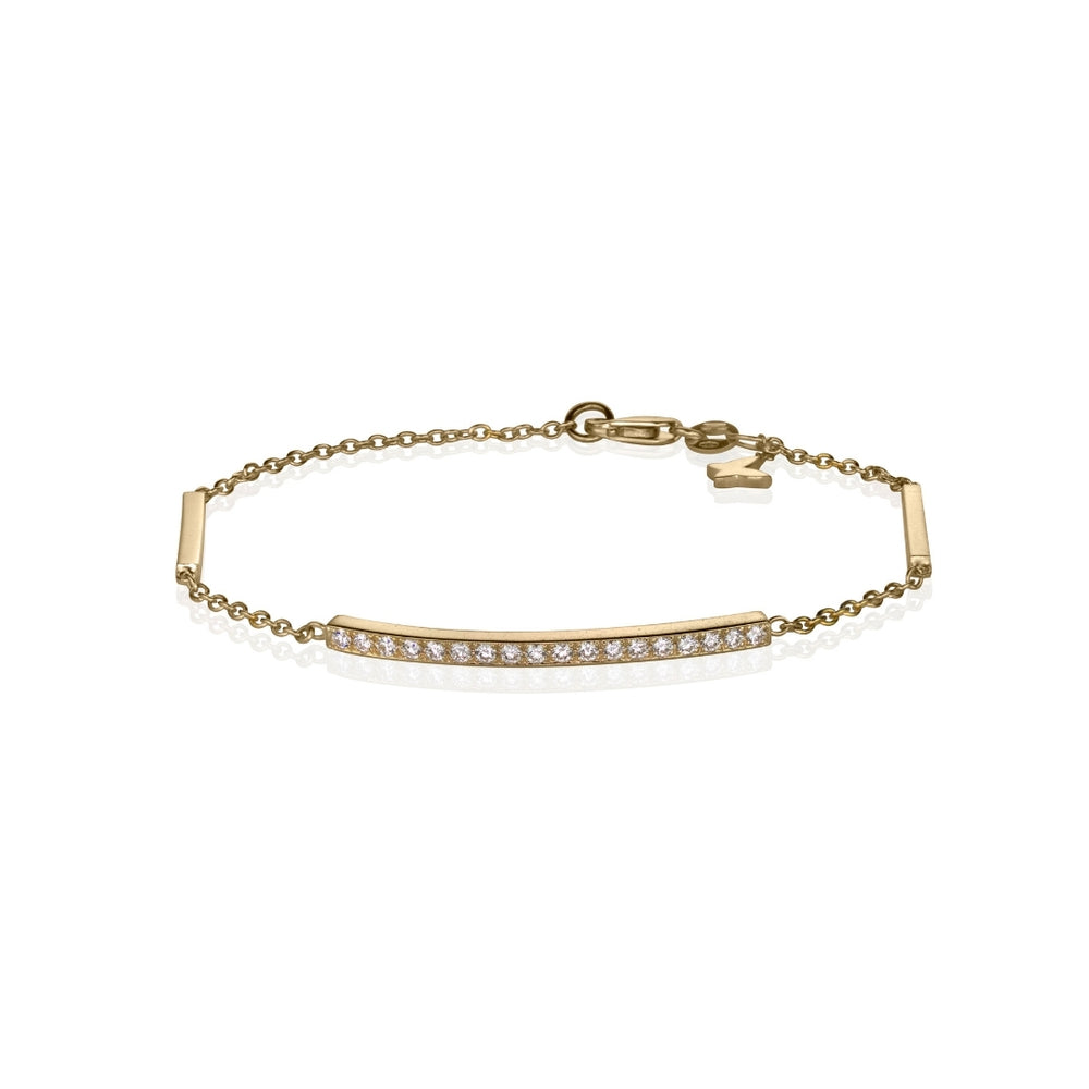 Diamond grande line bracelet in 14k yellow gold