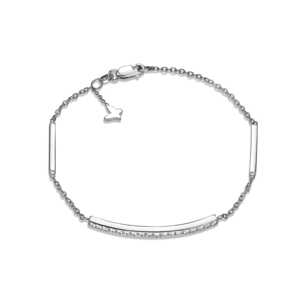 Diamond grande line bracelet in 14k white gold