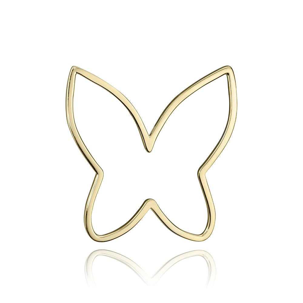 lafia charm collection large butterfly in yellow 14k gold