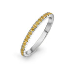 lafia goddess channel set citrine eternity ring 14 karat white gold