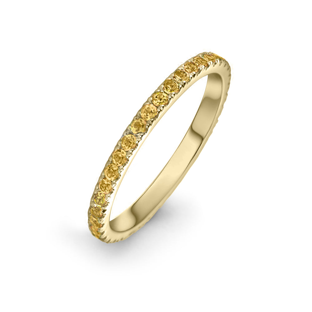 lafia goddess channel set citrine eternity ring 14 karat yellow gold