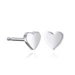 lafia mini stud collection heart stud white gold
