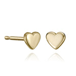 lafia mini stud collection heart stud yellow gold
