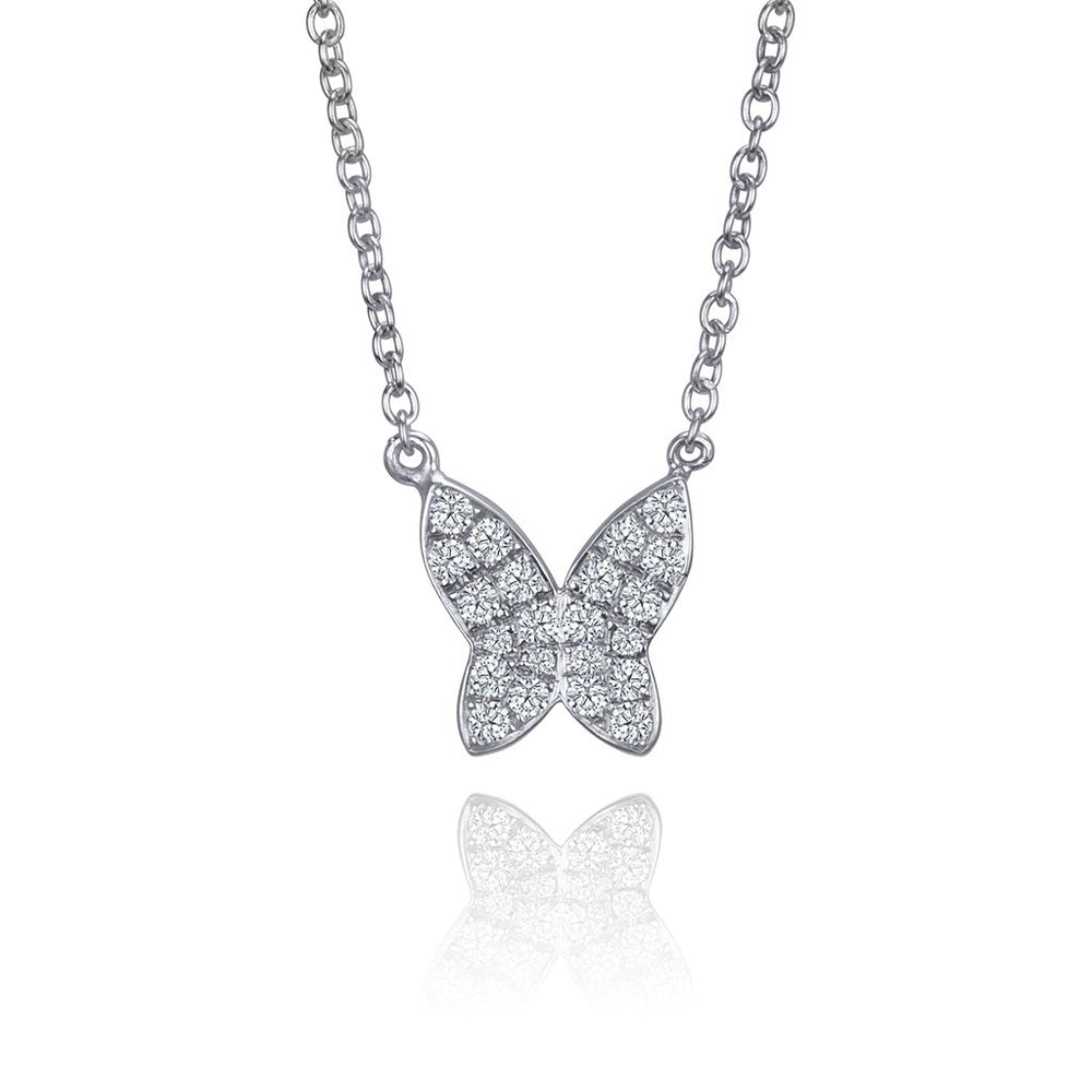 DIAMOND BUTTERFLY LAFIA NECKLACE