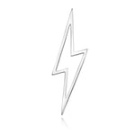 lafia charm collection large lightning in white 14k gold