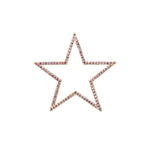STAR CHARM with SEMI-PRECIOUS STONES (Large)
