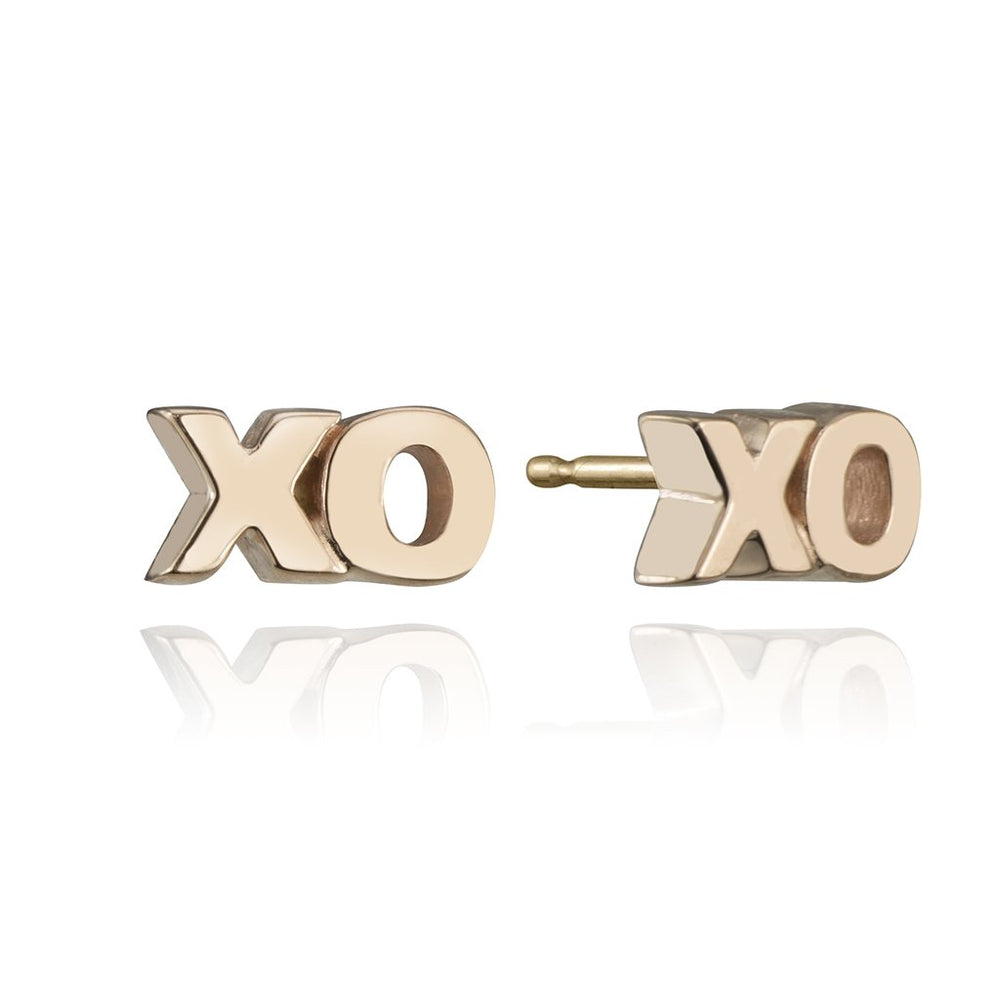 stud collection XO stud in 14 karat rose gold