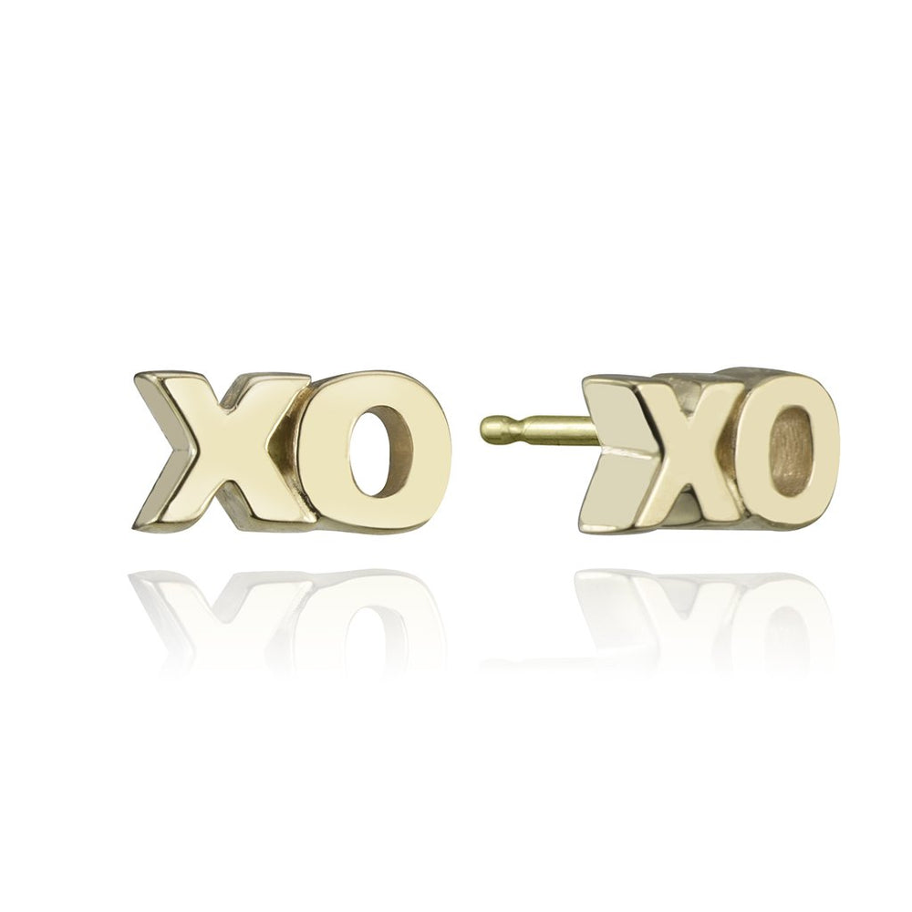 stud collection XO stud in 14 karat yellow gold