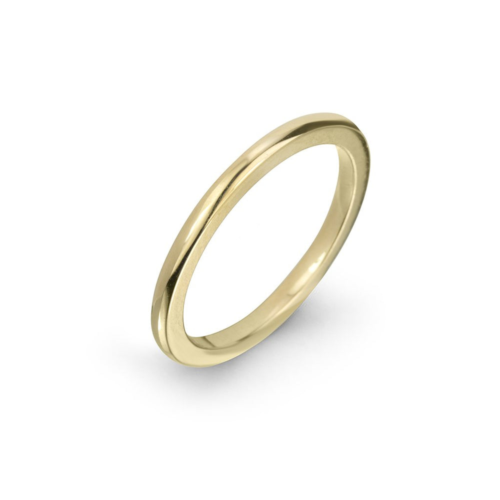 lafia goddess modern stacking ring yellow gold