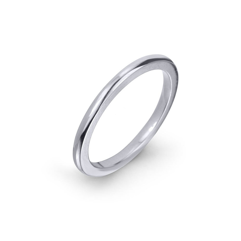 lafia goddess modern stacking ring white gold