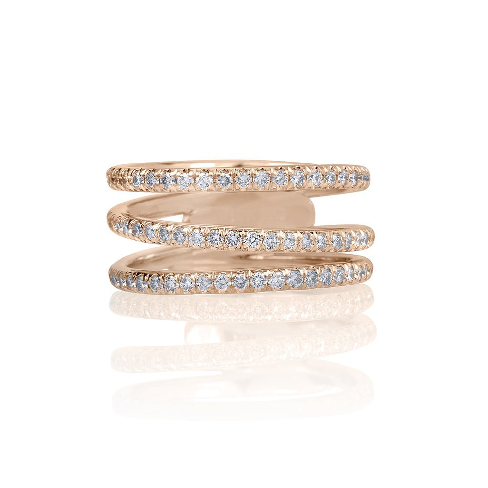 lafia goddess modern triple eternity ring rose gold