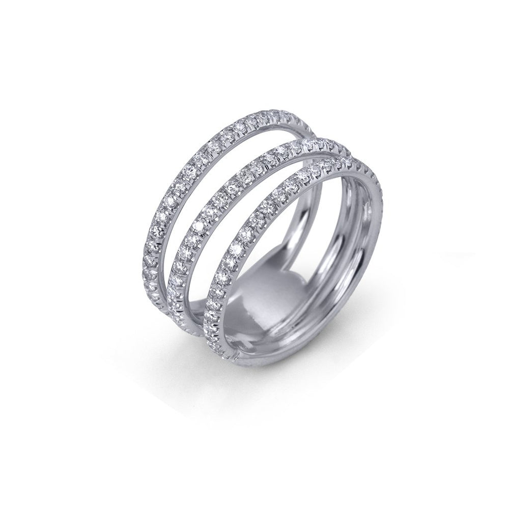 lafia goddess modern triple eternity ring side angle