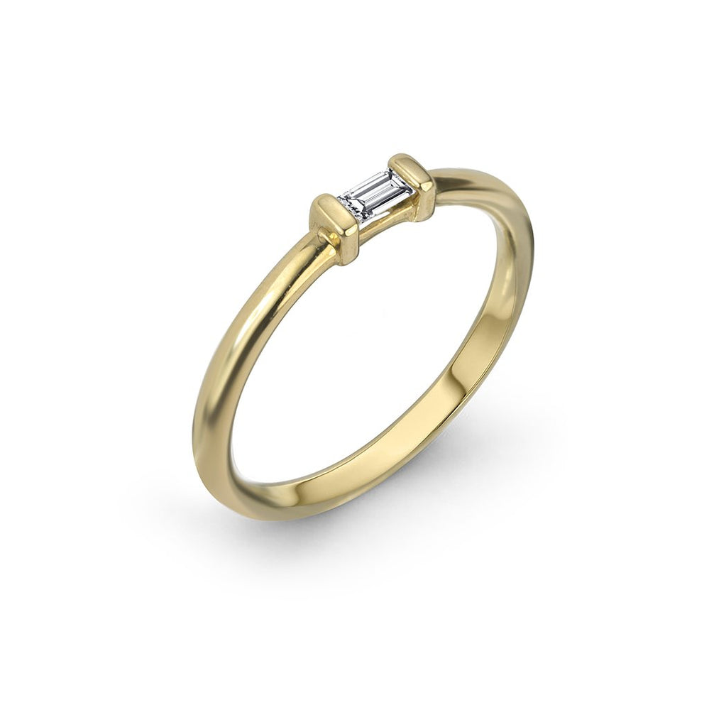 lafia matchstick baguette stacking ring yellow gold