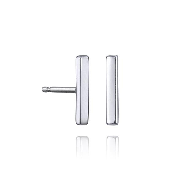 lafia straight and narrow line stud white gold