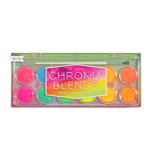 Chroma Blends Watercolor Paint Set- Neons