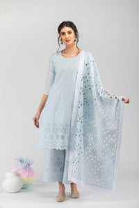 Khalis Powder Blue Dupatta