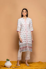 Load image into Gallery viewer, White Kurti with heavy embroidery - Set of 2