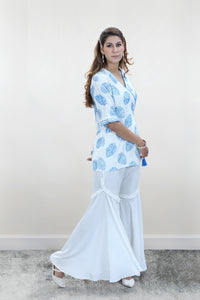 Printed Kimono Top with bell bottoms - Set of 2