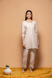 Shahaana Smoky White - Set of 3