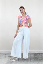 Load image into Gallery viewer, Colourful Floral Motif Crop Top