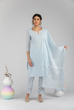 Load image into Gallery viewer, Pak Powder Blue Dupatta