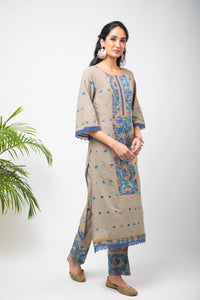 Paneled Embroidery Kurti - Set of 3