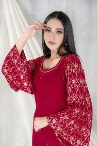 Gul Embroidery Red - Set of 3