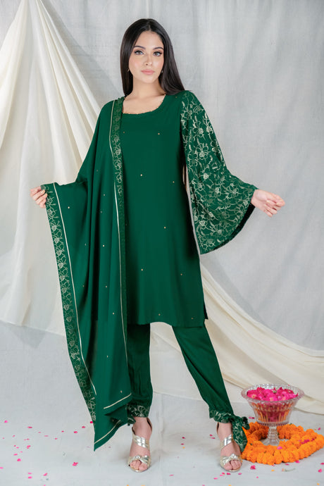 Gul Embroidery Green - Set of 3