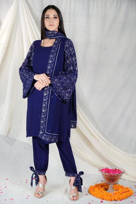 Gul Embroidered Blue - Set of 3