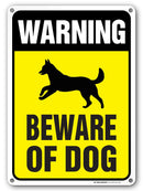 "Beware of Dog Sign, Outdoor Rust-Free Metal, 10"" X 14"" - by My Sign Center, A82-320AL"