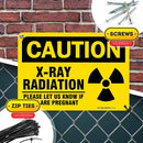 "Caution X Ray Radiation Sign Please Inform If Pregnant, Made Out of .040 Rust-Free Yellow Aluminum, Indoor/Outdoor Use, UV Protected and Fade-Resistant, 7"" x 10"", by My Sign Center"