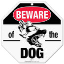 "Beware of Dog Sign Warning, Octagon Shaped Outdoor Rust-Free Metal, 11"" x 11"" - by My Sign Center, A90-276AL"
