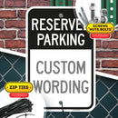 "Custom Reserved Parking Sign, Large 12"" x 18"" 3M Reflective (EGP) Aluminum, Easy Mounting, Rust-Free/Fade Resistance, Indoor/Outdoor, USA Made By MY SIGN CENTER"