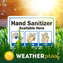 "Hand Sanitizer Stations Sign, Made Out of .040 Rust-Free Aluminum, Indoor/Outdoor Use, UV Protected and Fade-Resistant, 7"" x 10"", by My Sign Center"