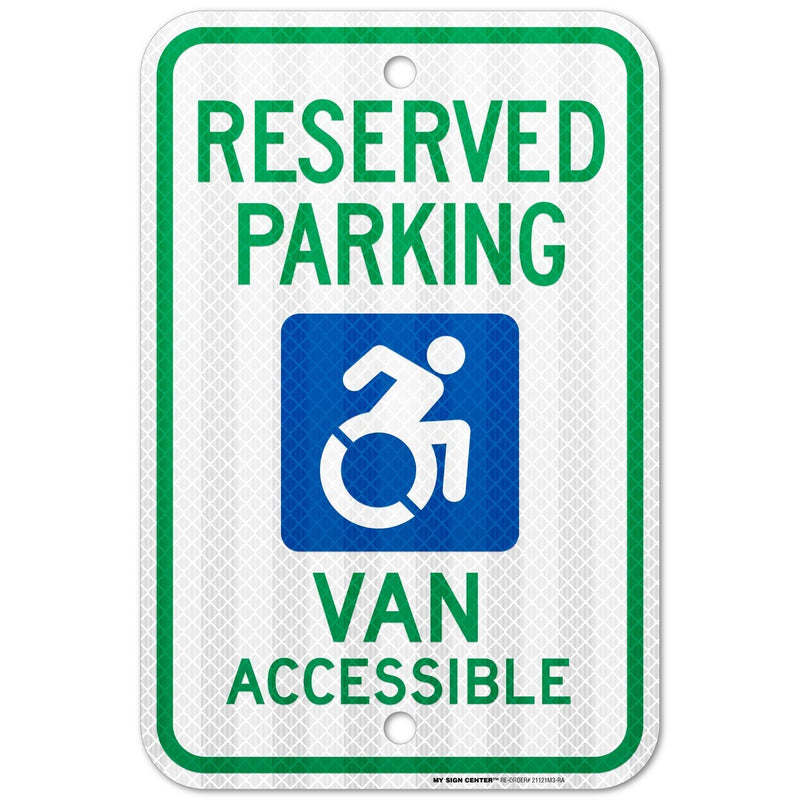 "Van Accessible Handicap Parking Sign, 3M Engineer Grade Prismatic .080 Reflective Outdoor Aluminum, 18"" x 12"" - by My Sign Center, 21121M3-RA"